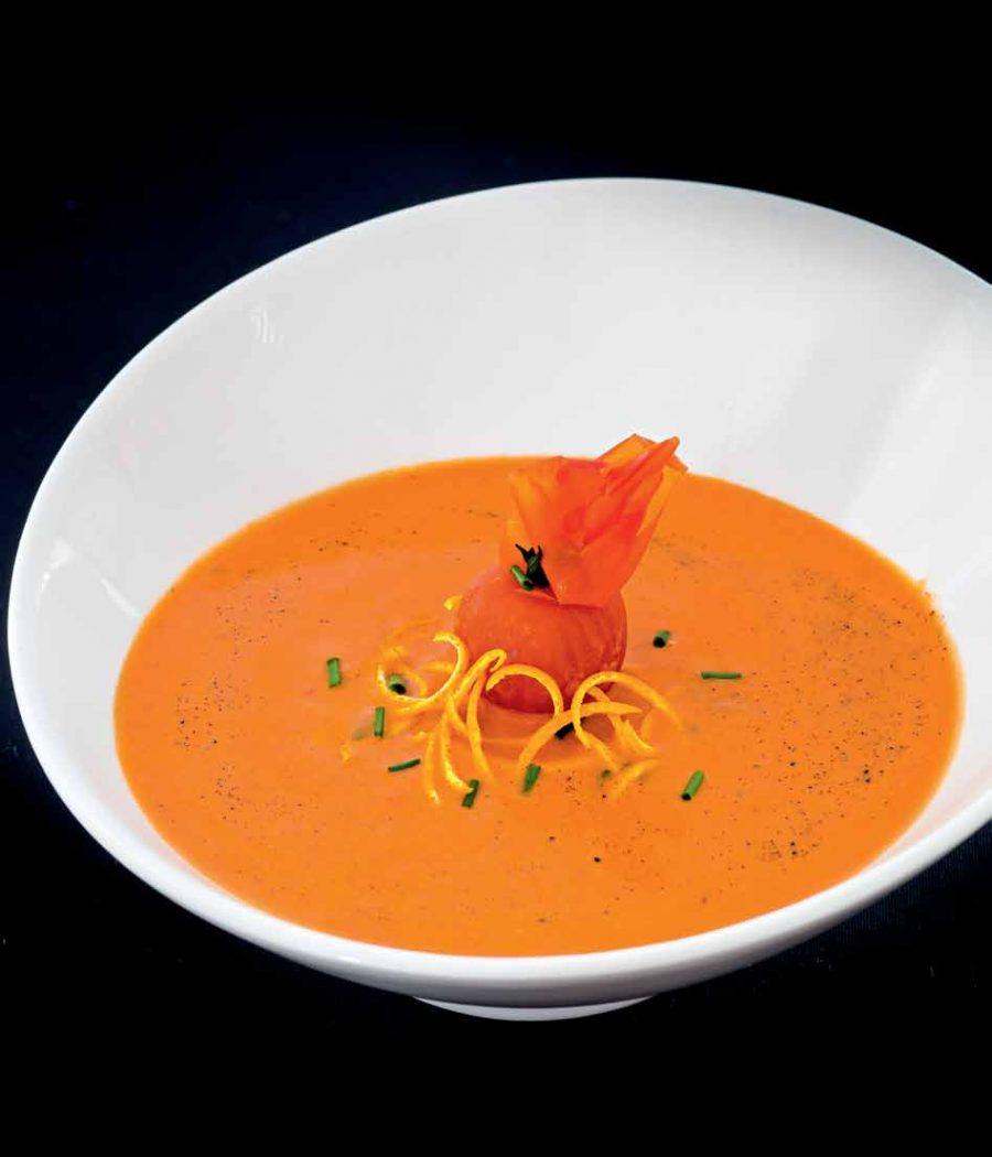 Апельсиново-томатный суп