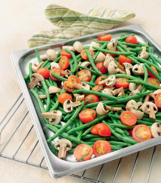 Разноцветное блюдо с фасолью