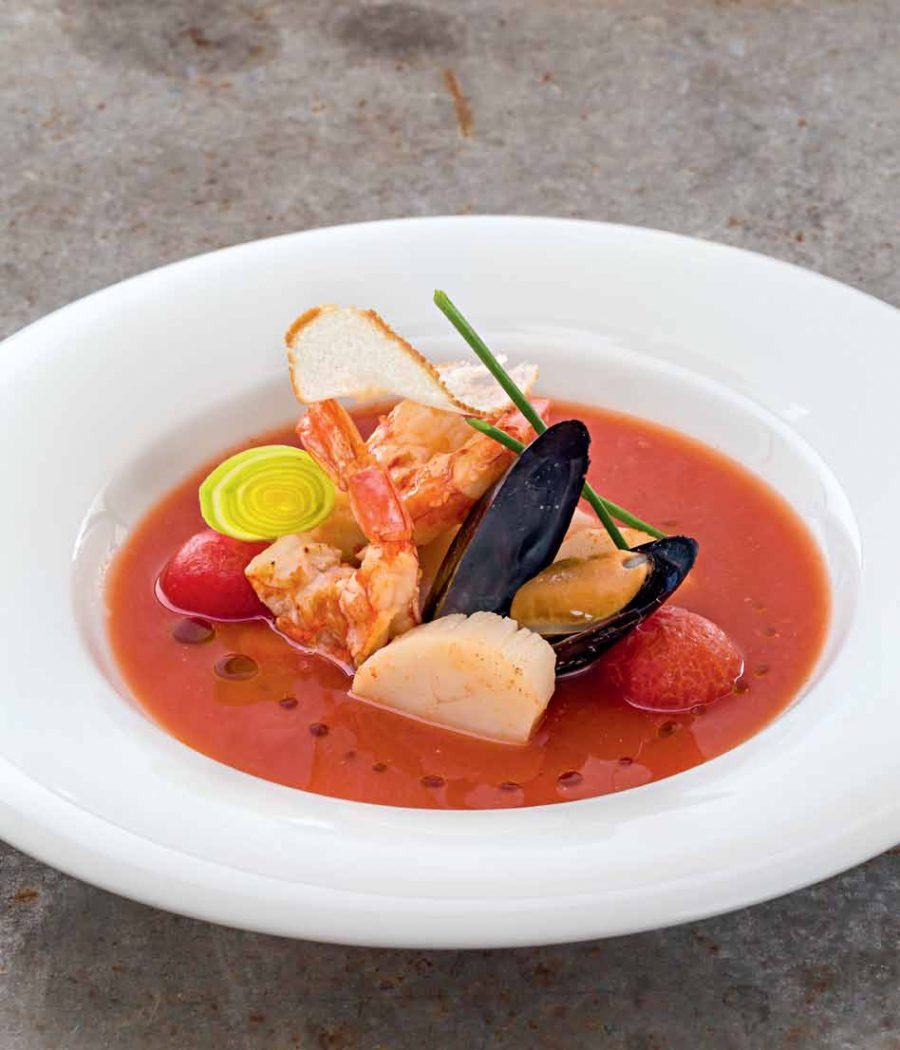 Рыбный суп в стиле буйабес