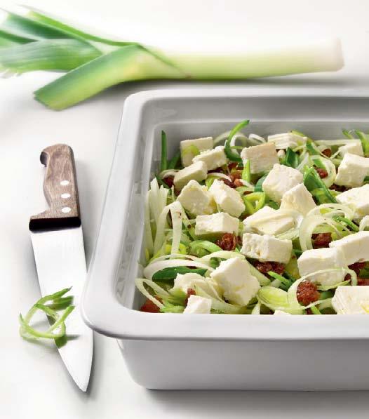 Салат с луком-пореем